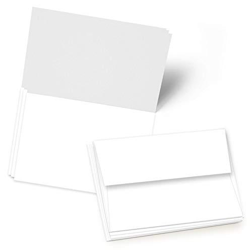 greeting cards set  5x7 blank white cardstock and